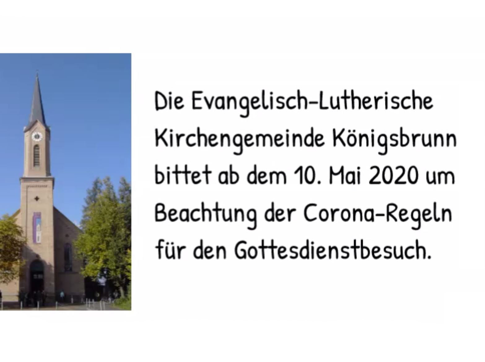 Gottesdienste und die neuen Corona - Regeln - Evangelisch Lutherische Kirchengemeinde Königsbrunn
